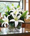 White Lily Bowl