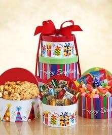 Tower Of Sweet Birthday Treats