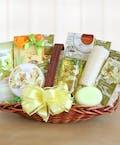 Elegant Orchid Spa Basket