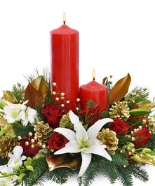 Happy Holiday Centerpieces