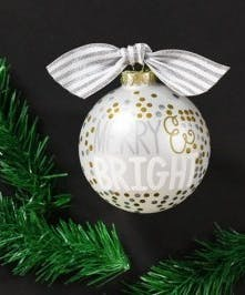 Ornament with the text