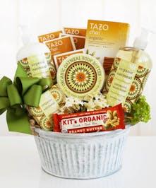 California Organic Oatmeal Spa Gift Basket For Her