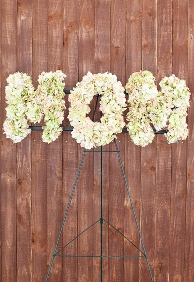 Flowers spelled out to say
