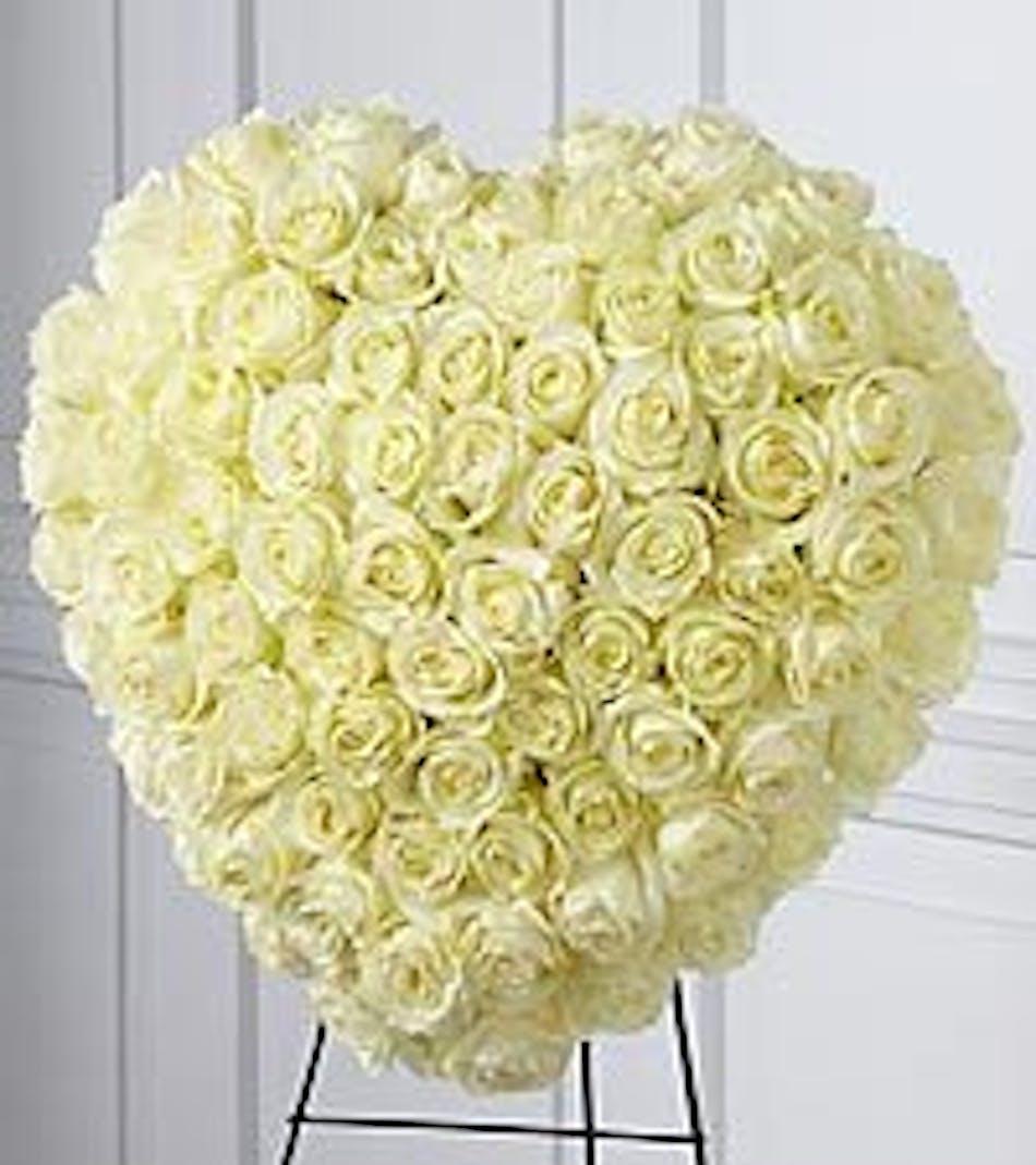 Elegant Heart Tribute Fort Worth Funeral Flowers