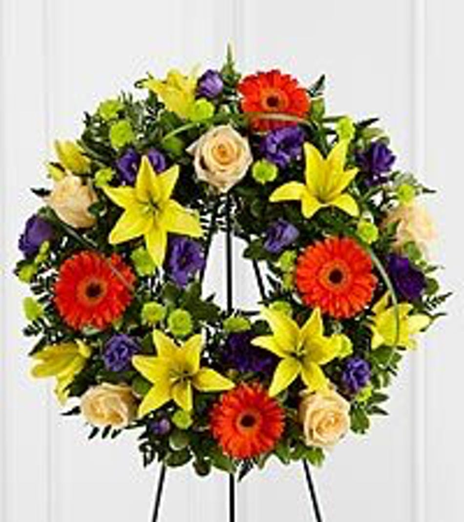 Radiant remembrance funeral flower wreath ft worth available for nationwide delivery izmirmasajfo