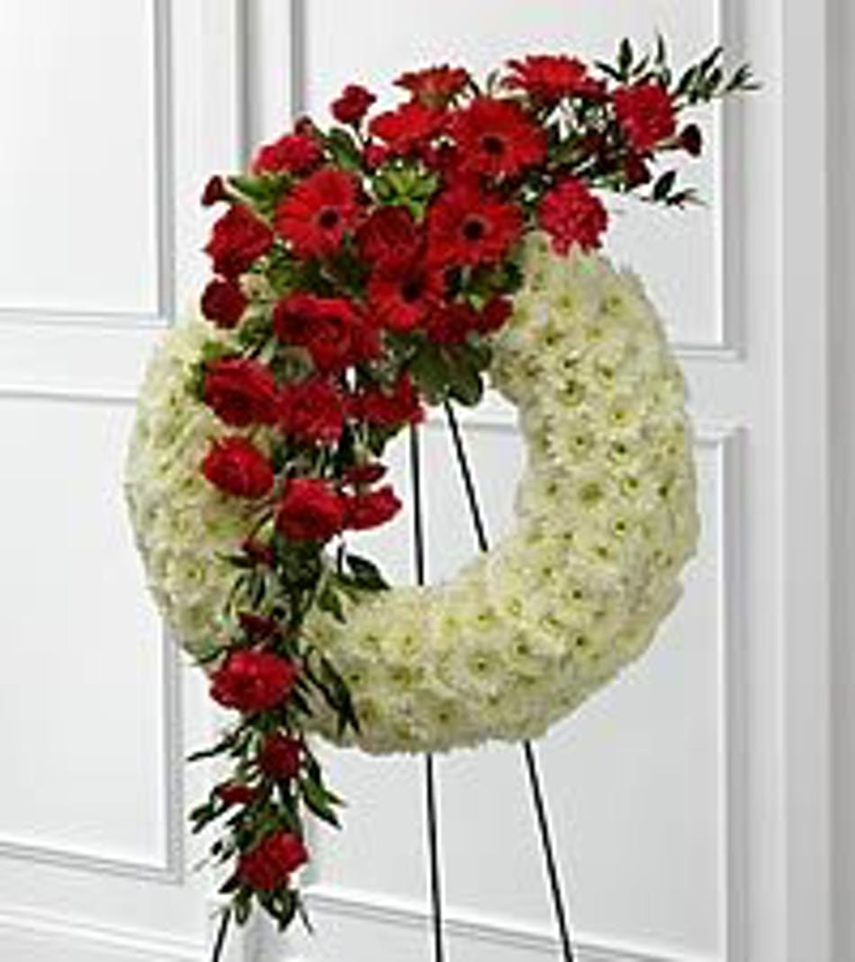 Graceful funeral flower wreath ft worth sympathy flowers available for nationwide delivery izmirmasajfo