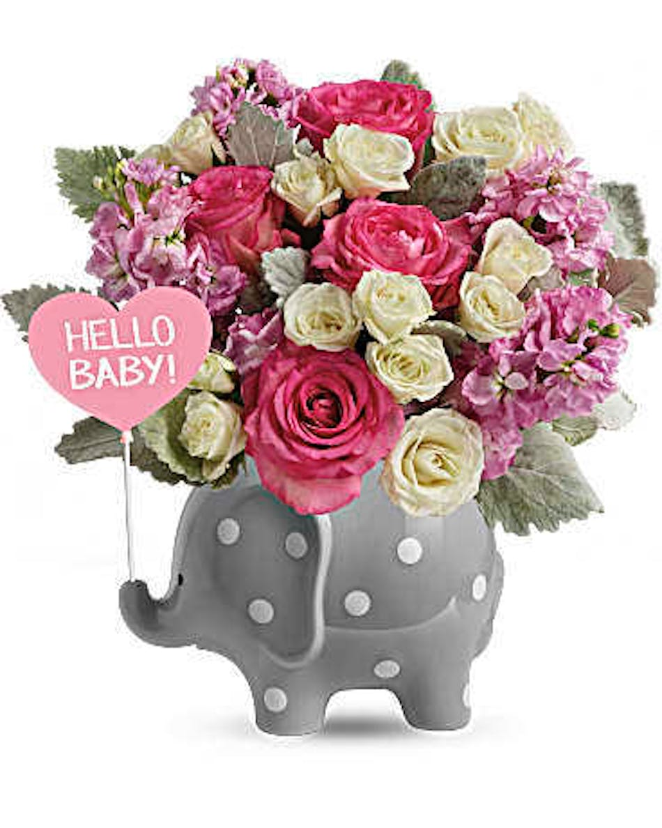 Hello Sweet Baby Pink Fort Worth Same Day Flower Delivery