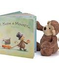 Jelly Cat Bashful Monkey and Book