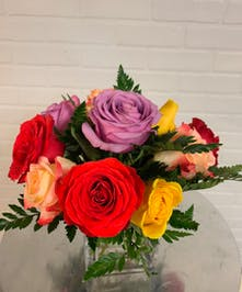 Rainbow Rose Cube