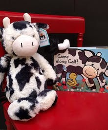 Bashful Calf and Book