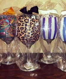 20 oz wine glass with neoprene huggie and drink mix ready to gift