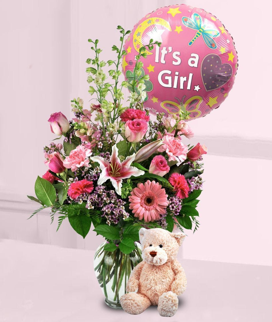 Baby Girl Flowers Balloon Fort Worth Baby Flowers