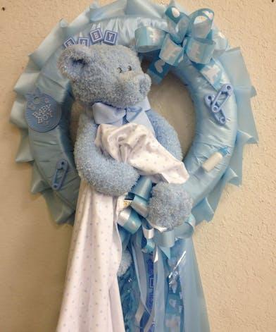 Blue baby door badge.