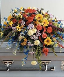 For the casket funeral flowers