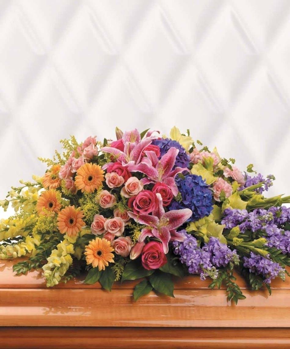 Garden Of Sweet Memories Funeral Service Spray Flowers