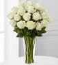 18 White Roses