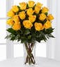 18 Yellow Roses