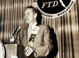 Felix speaks at an FTD event in the 1960s